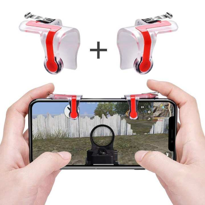 Gaming Trigger MN Joystick L1R1 Controller Shooter PUBG/FORTNITE Mobile Game Controller Game Trigger Aim and Shoot - 1 Pair (2pcs)