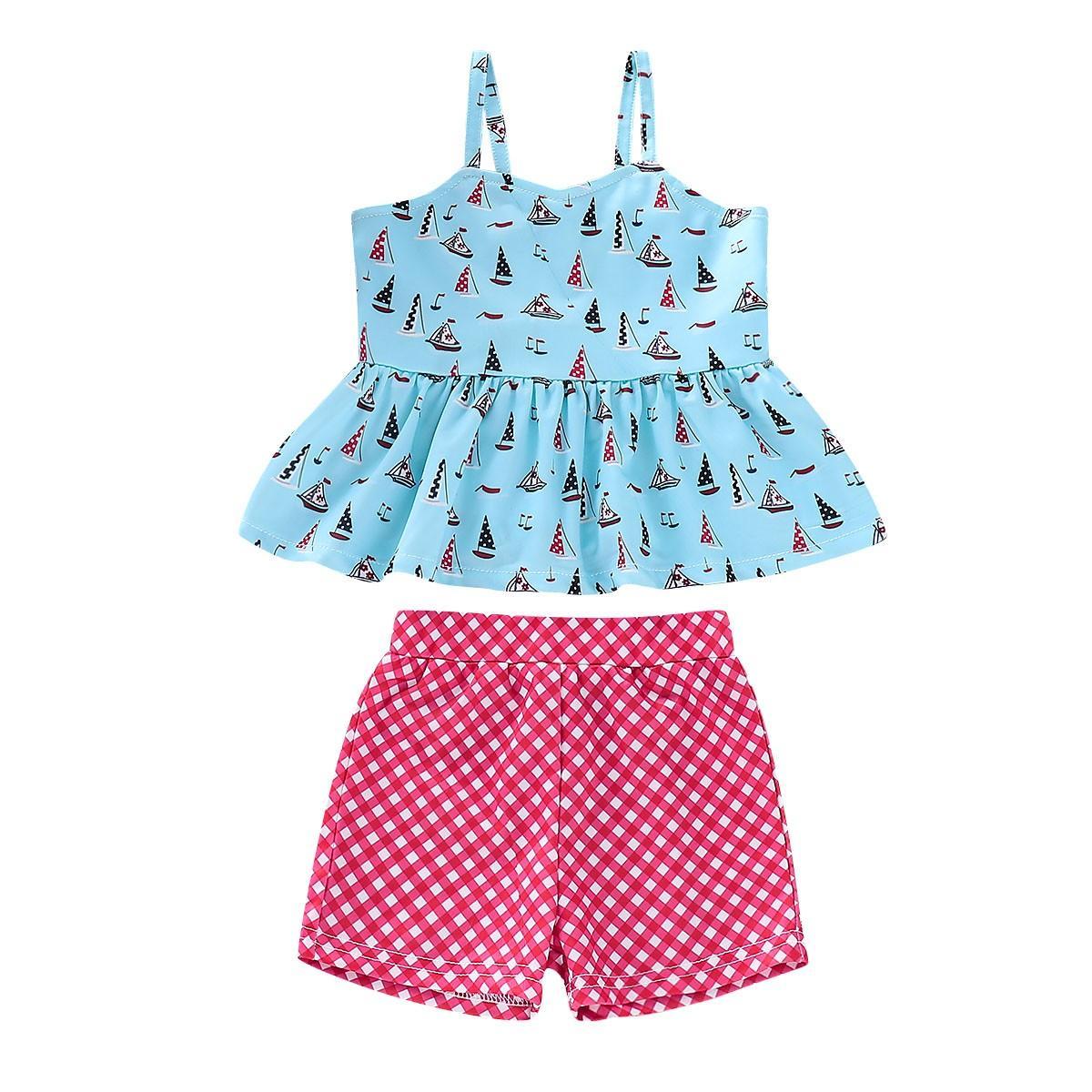 cdd12c3e24c BlingBlingStar Toddler Kids Girl Cartoon Two-piece Swimwear Swimsuit  Bathing Suit Clothes Set
