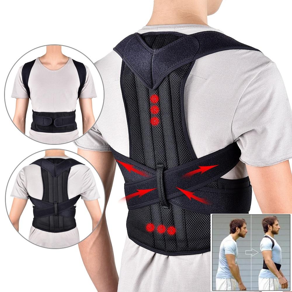 Adjustable Magnetic Posture Corrector Corset Back Brace Back Belt Lumbar Support Straight Corrector