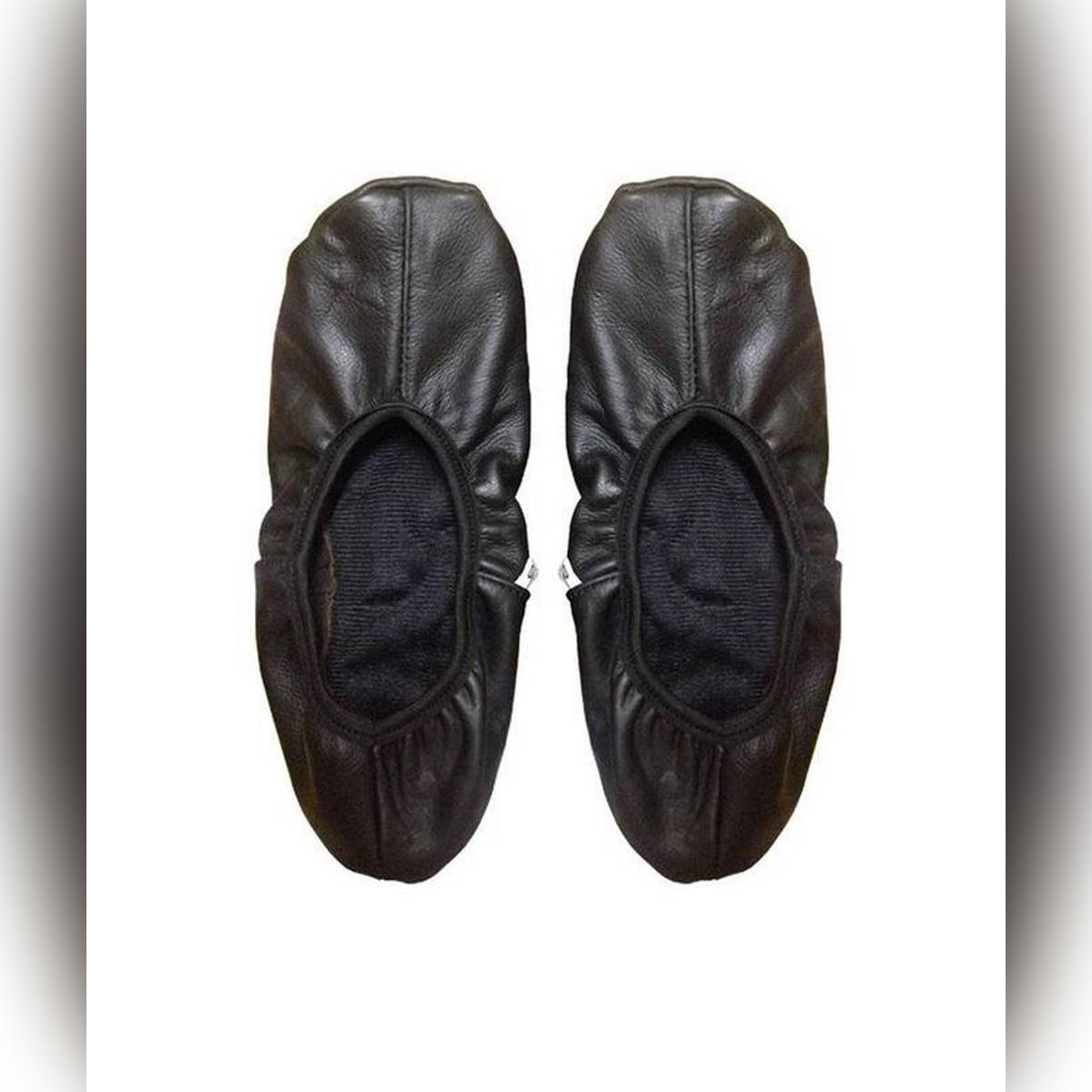 Leather Half Socks (Mozay) For Hajj Umrah - Unisex - Black