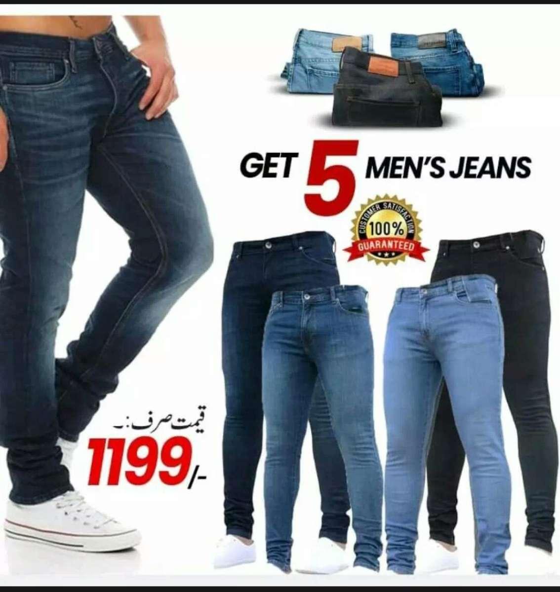 Pack Of 5 Denium Jeans For Men