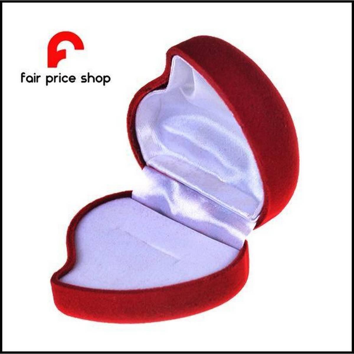 Black & Red  High Quality Velvet Romantic Heart Ring Box