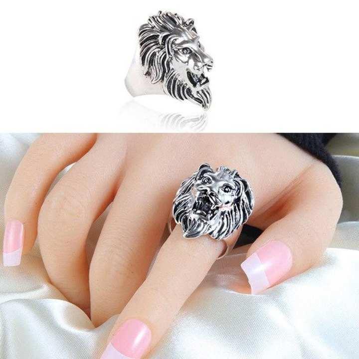 Loin Face ring For Women