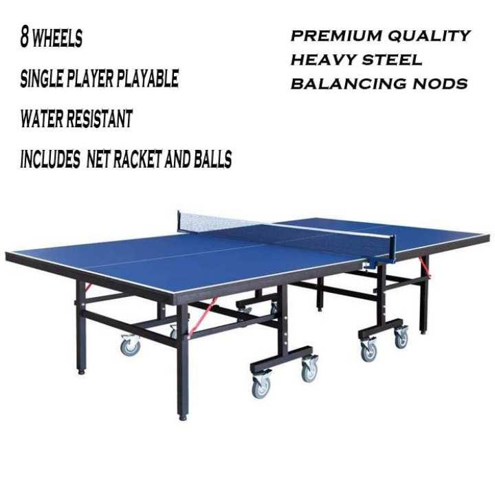 Table Tennis 8 Wheels Lasani Sheet Foldable Butterfly Style - Blue