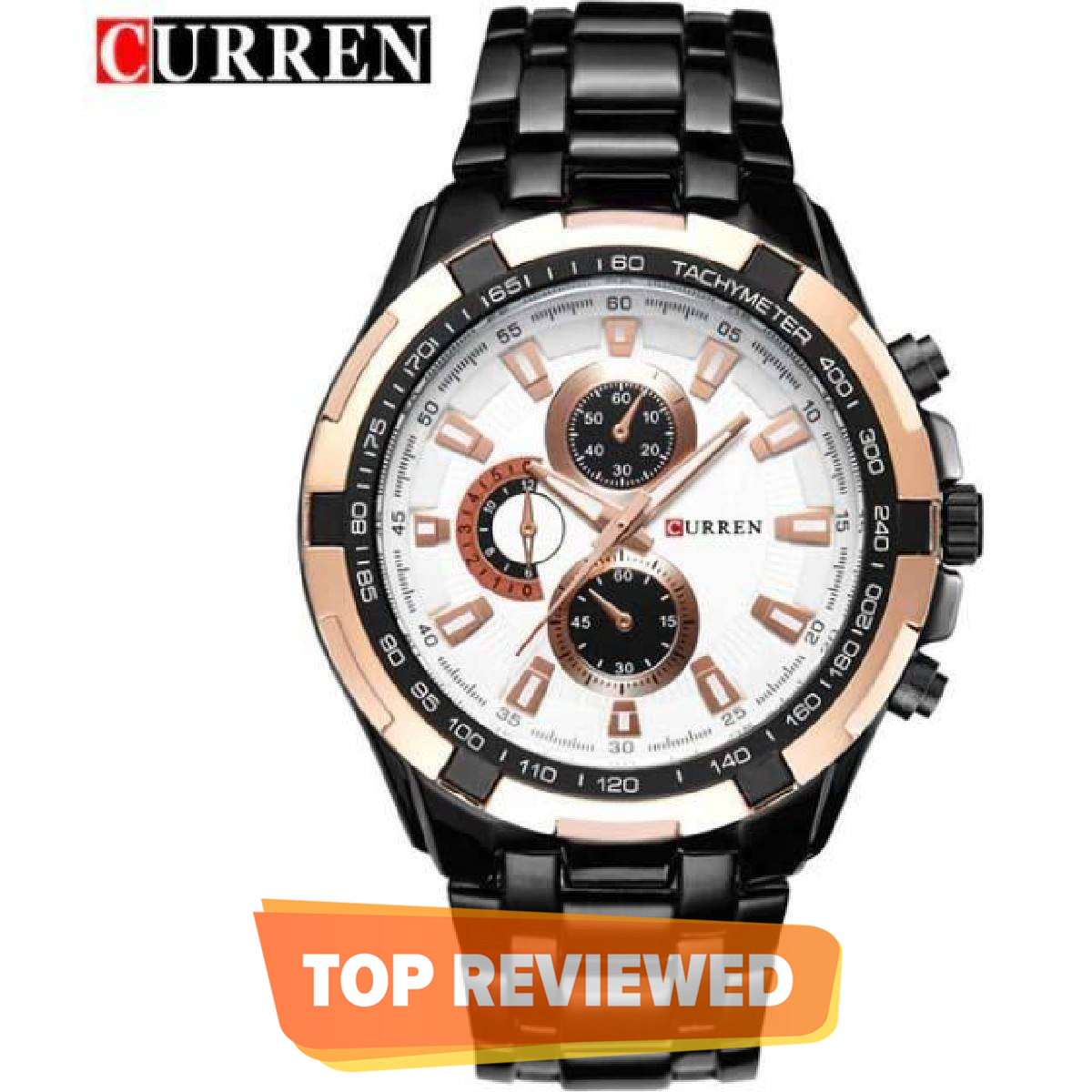 CURREN Stainless Steel Waterproof Quartz Military Sports Watch With Brand Box - 8023