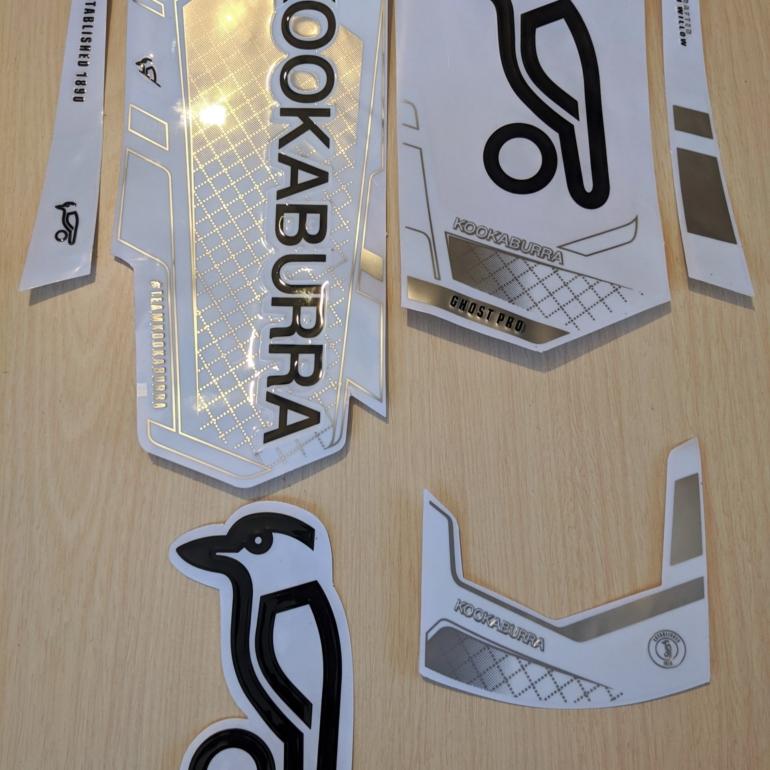[3D] Kookaburra GHOST PRO Cricket Bat Stickers [3D]