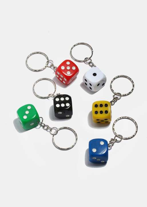 Dice High Quality Plastic Key Chain
