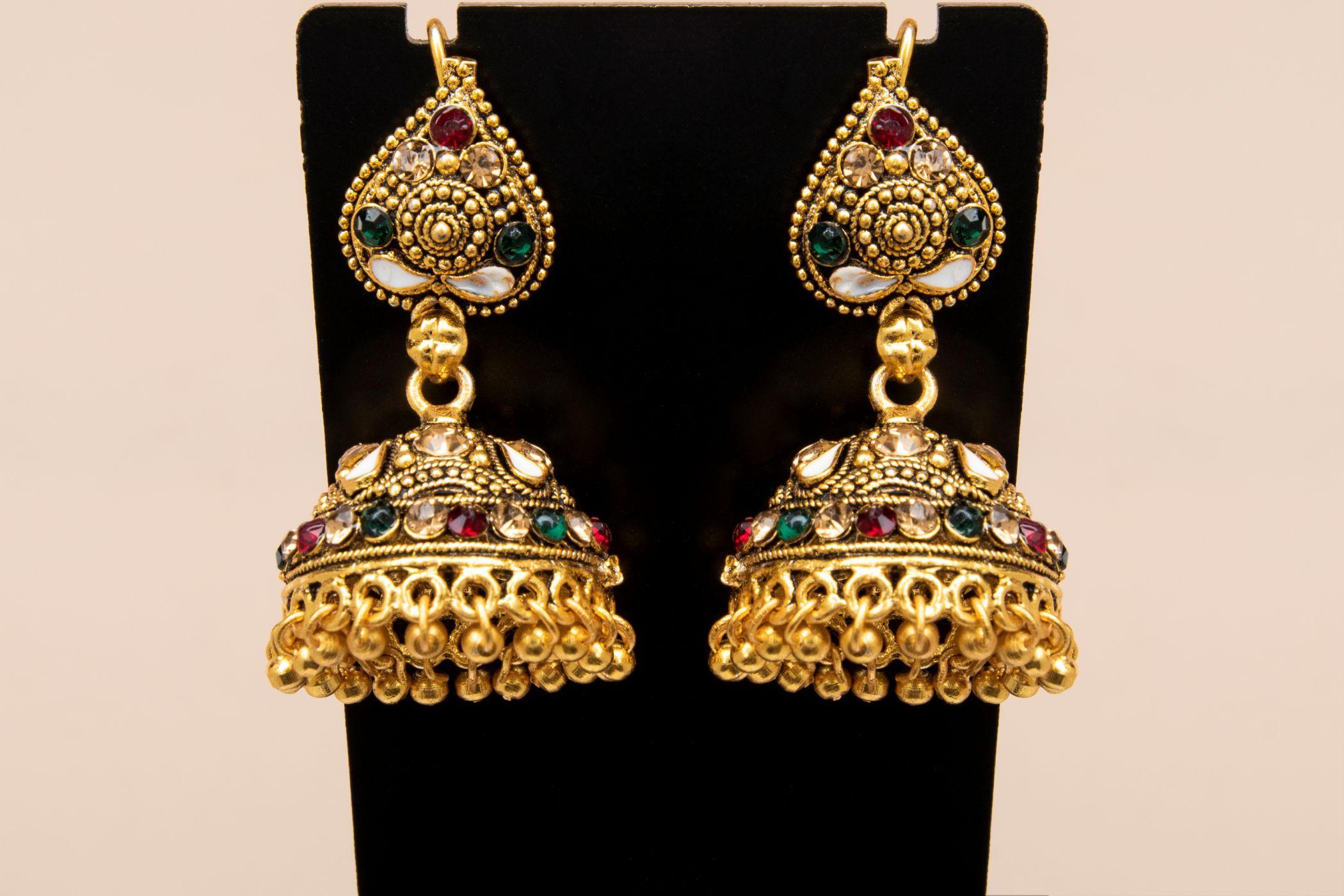 5b5c77bba Jhumka Earrings Antique Vintage Brass Tassel Earring