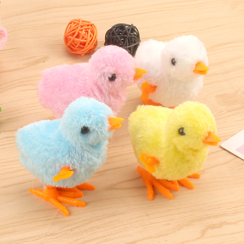 Pack Of 3 Funny Walking Chicken Chick Dancing Plastic Animal Toy For Kids MultiColors – Happytoys