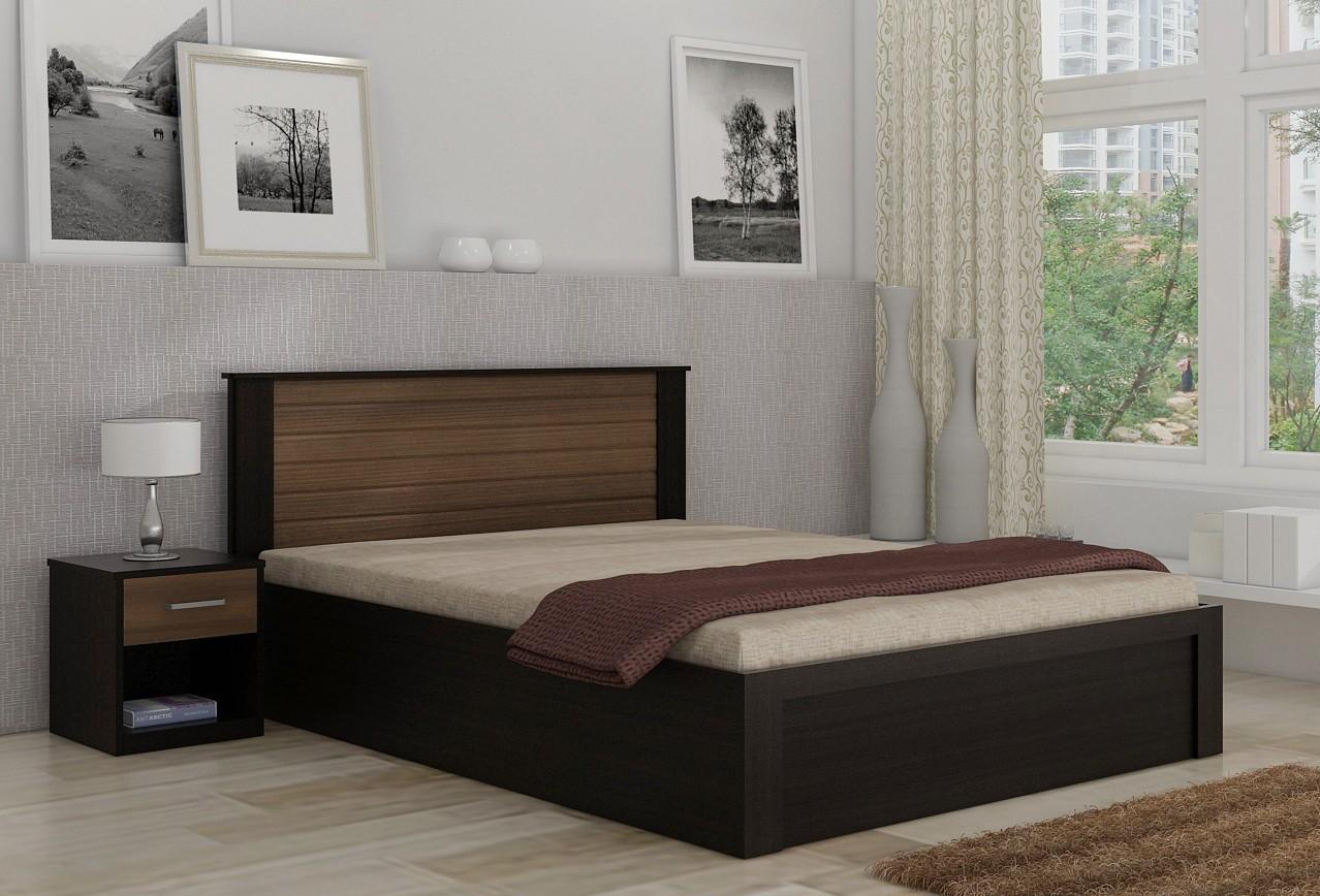 . Double Tone Modern Design King   Queen   Single Bed with side tables