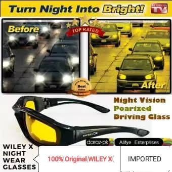 [ FLASH SALE TODAY ] 100% ORIGINAL WILEY X / VVIUEY X NIGHT SPORTS and DRIVING GLASSES