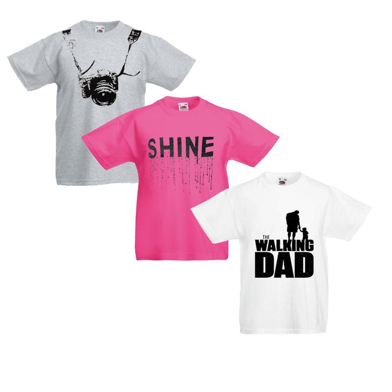 Pack Of 3 Mix Cotton Full Sleeves Printed T-shirt For Kids