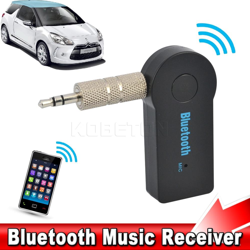 Wireless Bluetooth 3.5mm Car Aux Audio Stereo Music Receiver Adapter With Mic For PC