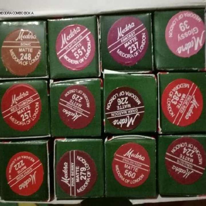 Medora Lipsticks - Pack of 12 - Multicolor
