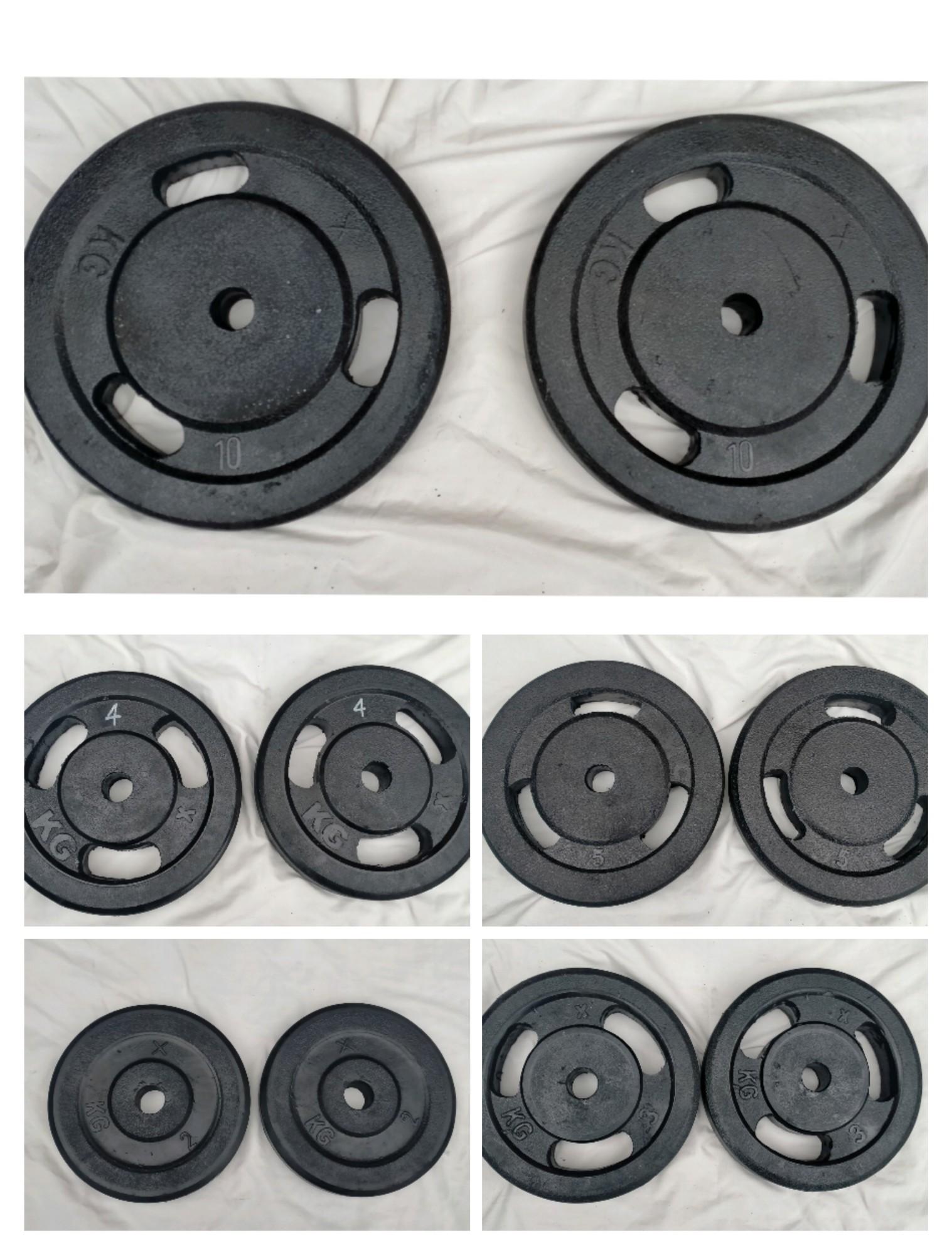 Pair Of 1kg 2kg 3kg 4KG 5kg 8kg 10Kg  High Quality Professional Rubber Plates 1 inch Hole
