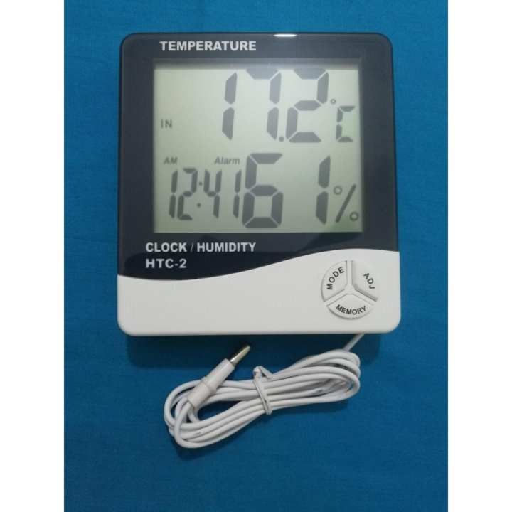 Digital Humidity Meter HTC-2 - Indoor and outdoor Temperature, Humidity And Clock