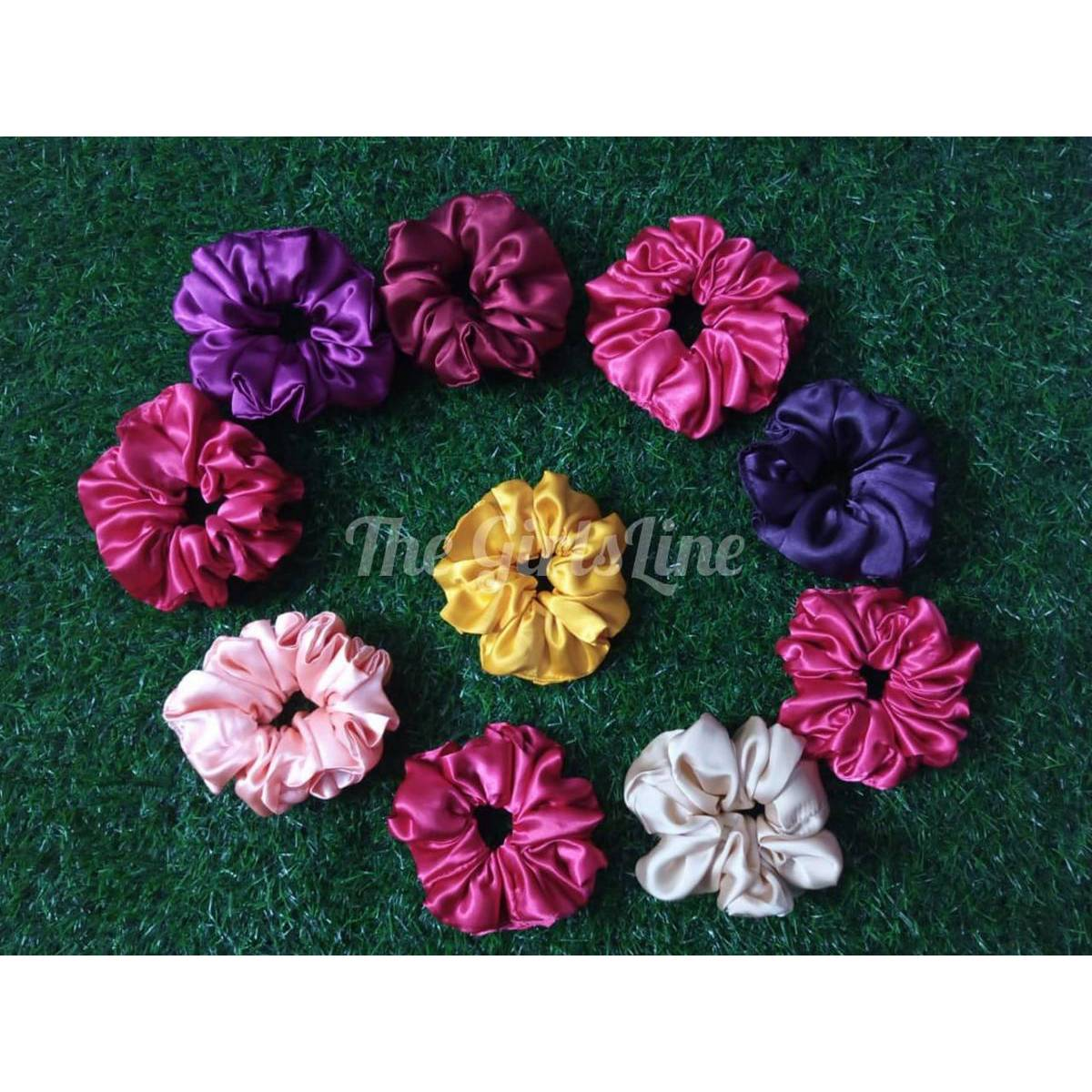 Scrunchie for girls hair High Quality Silk Pack of 5