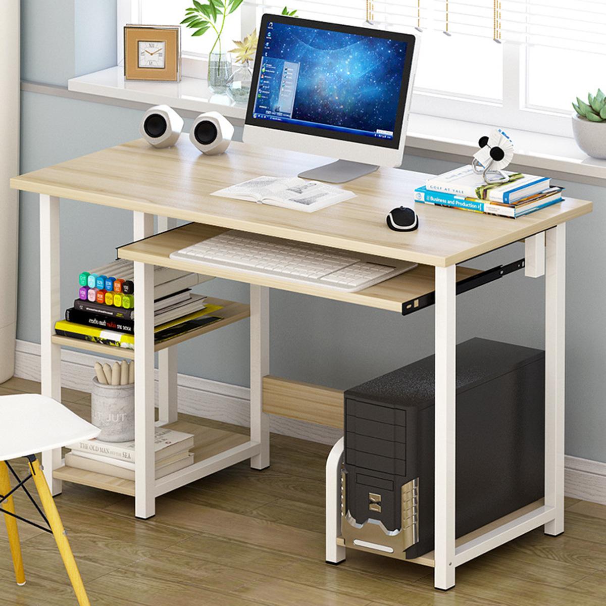 Modern Desktop Computer Desk Gaming PC Laptop Desk Work Table, Home Workstation Students Study Writing Desk