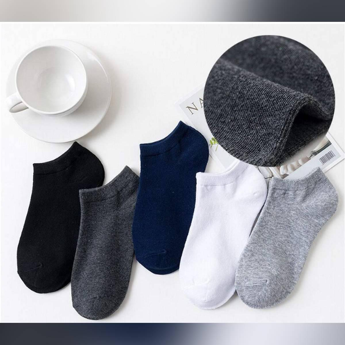 5 PAIRS Men Cotton Ankle Summer Socks for Men's