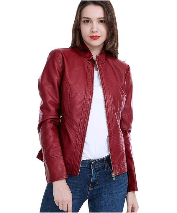 Women Pu Leather Jacket Women Pu Leather Jacket Ll-01