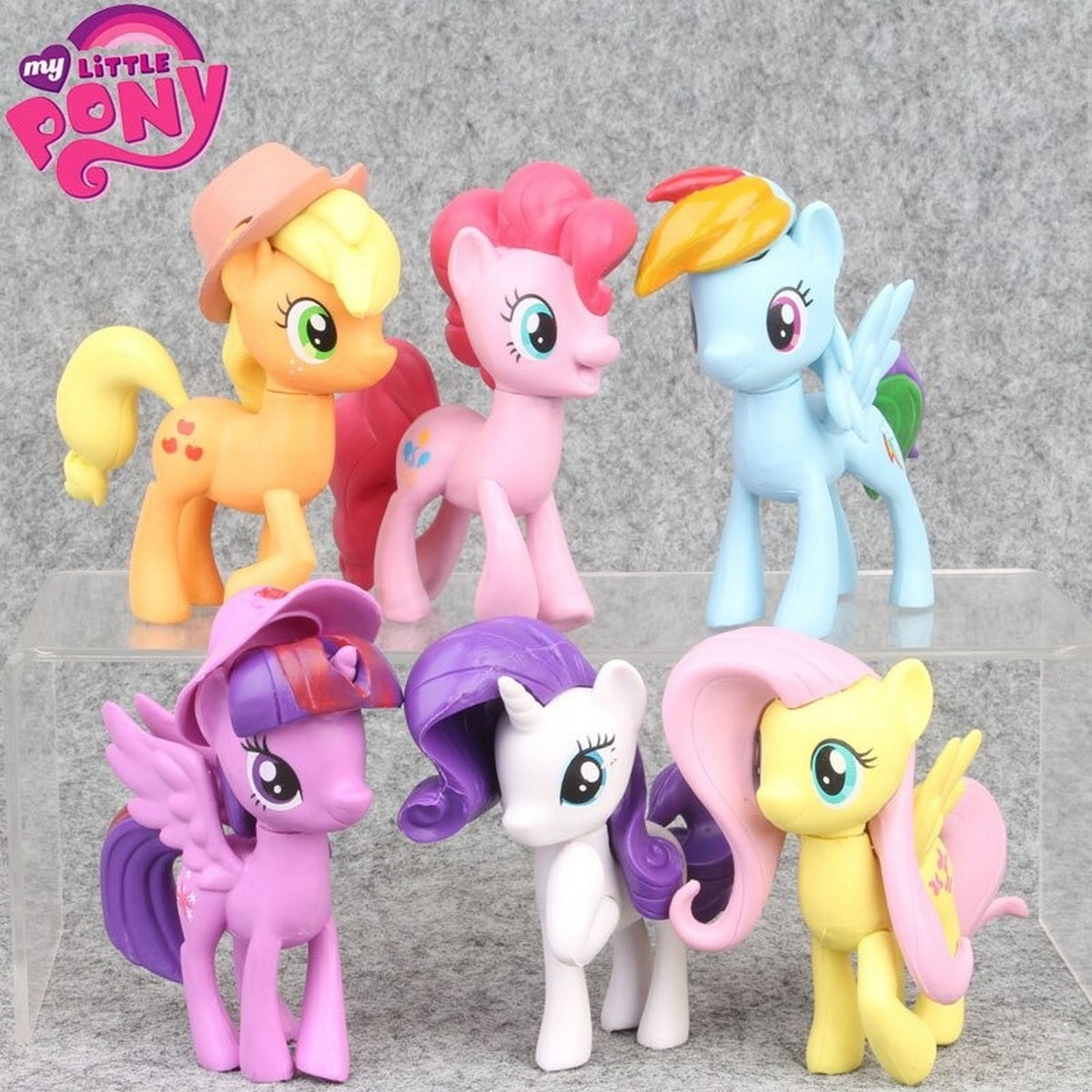 6 pcs/set Small 10cm Unicorn My Little Pony Anime Figure Model Toy PVC Figures Doll Collectible Toys Children's Birthday Christmas Gifts