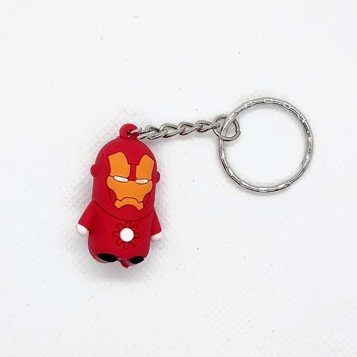 Iron man Super Hero Rubber Key Chain