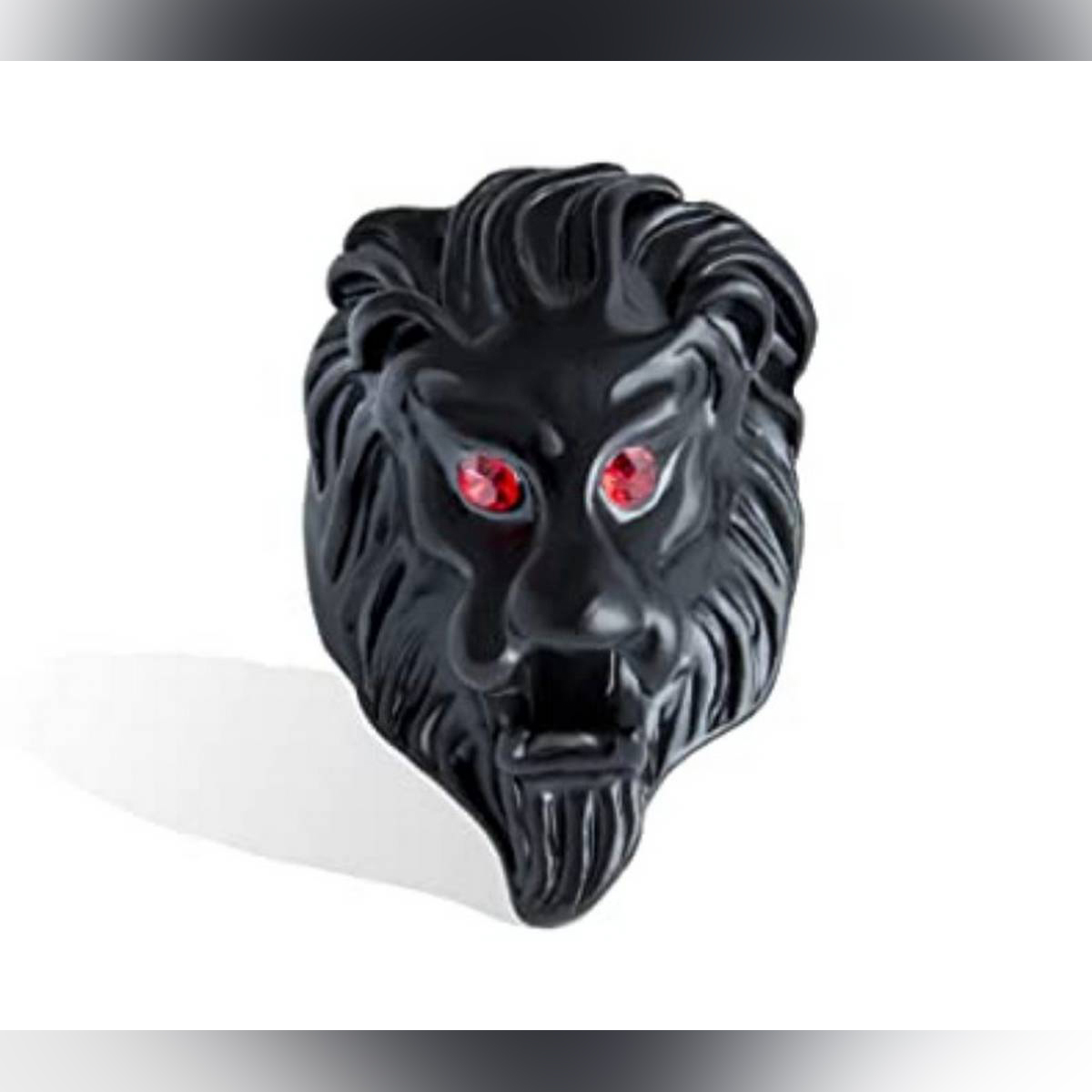 New Punk Titanium Steel Rings Bulldog Lion Head Animal Shaped Rings Fine Jewelry Gifts For Men