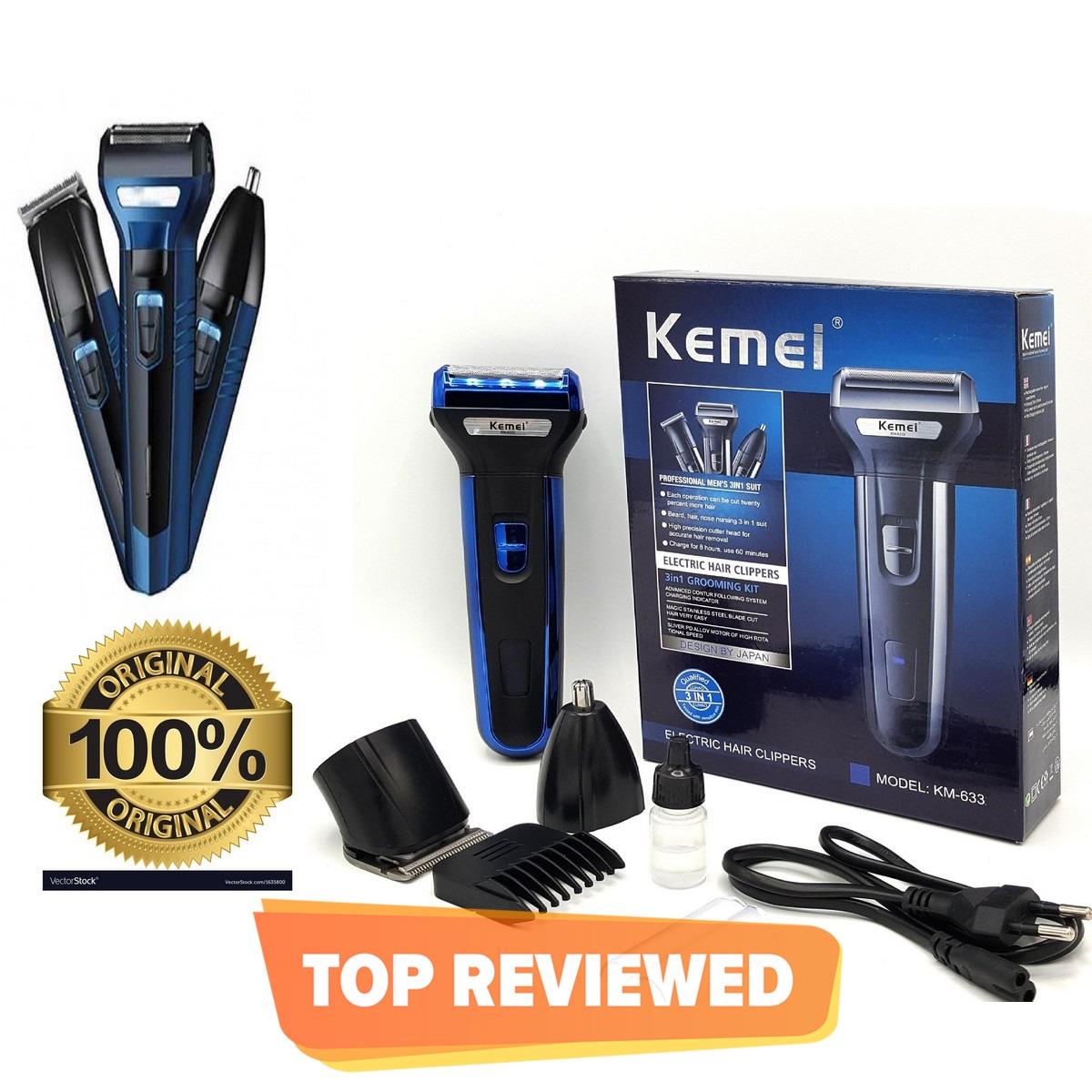 Original Kemei 6330 3 In 1 Rechargeable Hair Clipper kemei Km-6330 Kemei km-6330 Hair Clipper Razor Shaver Nose Trimmer 3 in 1 beard styling for men Rechargeable Hair Removal machine KM 6330 Guaranted Original Quality kemei 6330 kemei 3 in 1 kemei km 6330