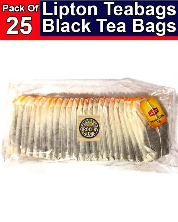 Tea Bag Black Tea Bags Pack Of 25 pcs