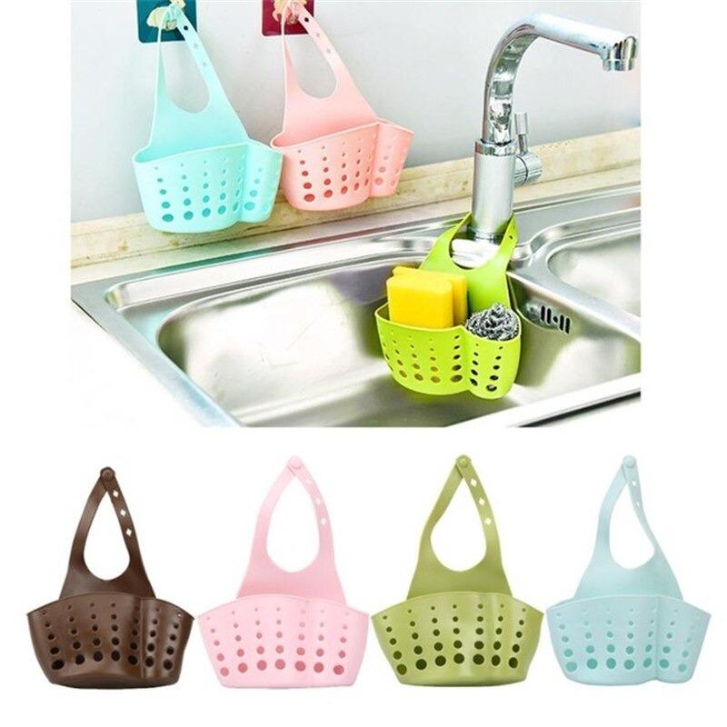 New Portable Home Kitchen Sink Filter Hanging Silicone Drain Bag Bathroom Storage Basket Holder Bathroom Accessories Strainers