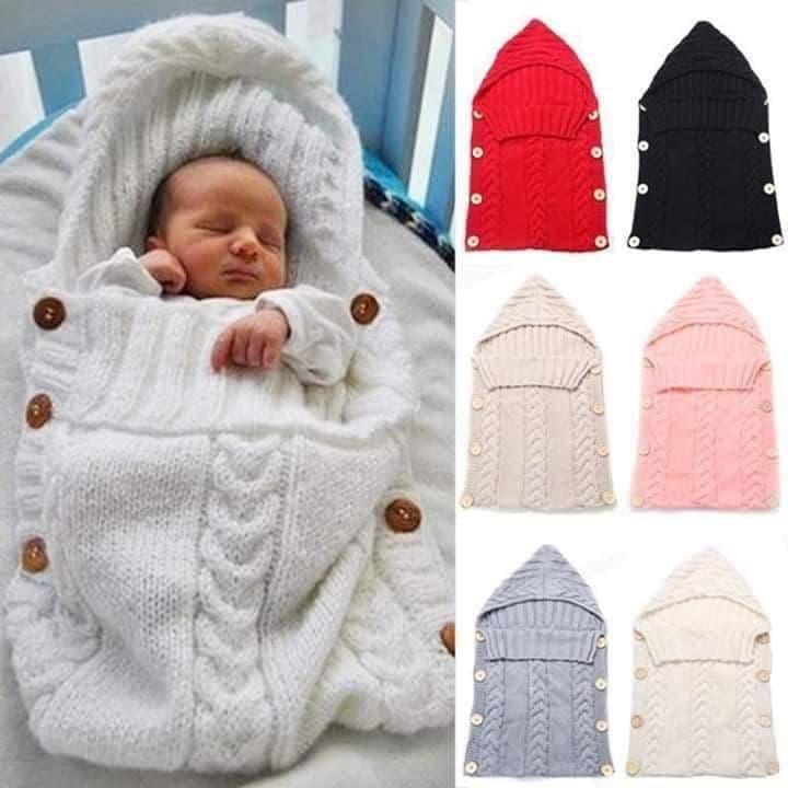 Baby Wrap Swaddle Warm Knitted Wool Crochet Infant Baby Sleeping Bag Baby Bands Blanket Sleep Bags Newborn baby blanket