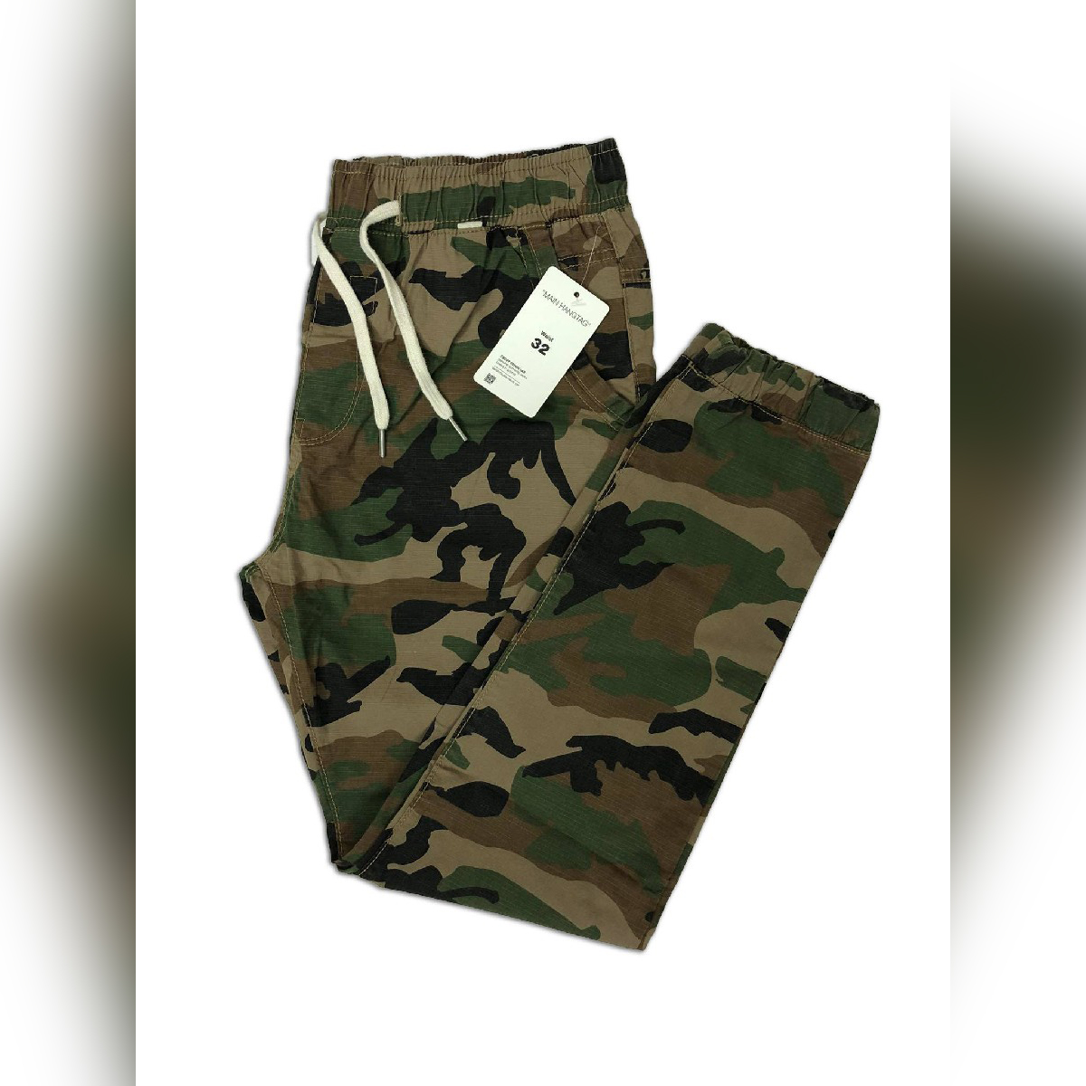 The Factory Stock - Cotton Camouflage Jogger Pant (Army Green Color)