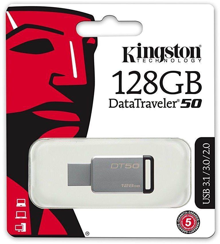 Kingston 128gb Usb 3.1 Datatraveler 50 Flash Drive