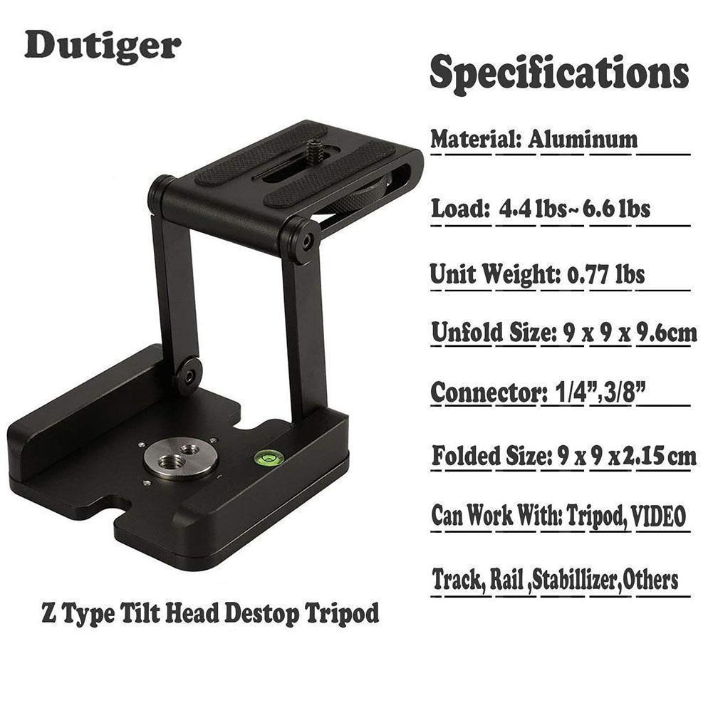 Portable Foldable Z Flex Tilt Camera Tripod Bracket Head for Photography  Studio Stand Mount Holder