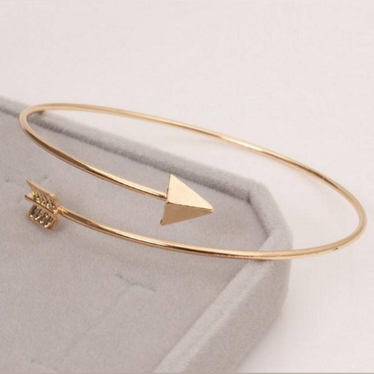 New Hot Fashion Adjustable Arrow Bangles Bracelets for Women Vintage Gold Color Zopika Store