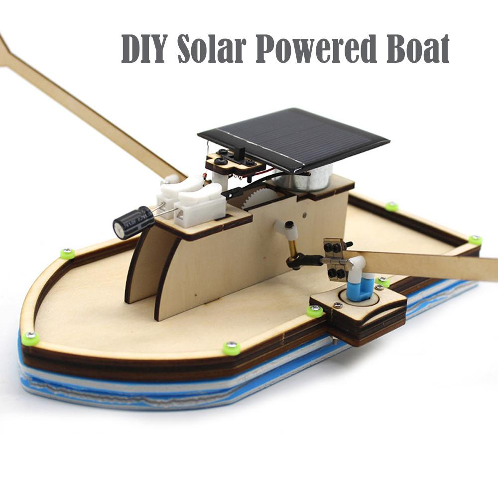 Solar Powered Boat DIY Model Robot Boat Ship Puzzle Educational Toy Kit Kid