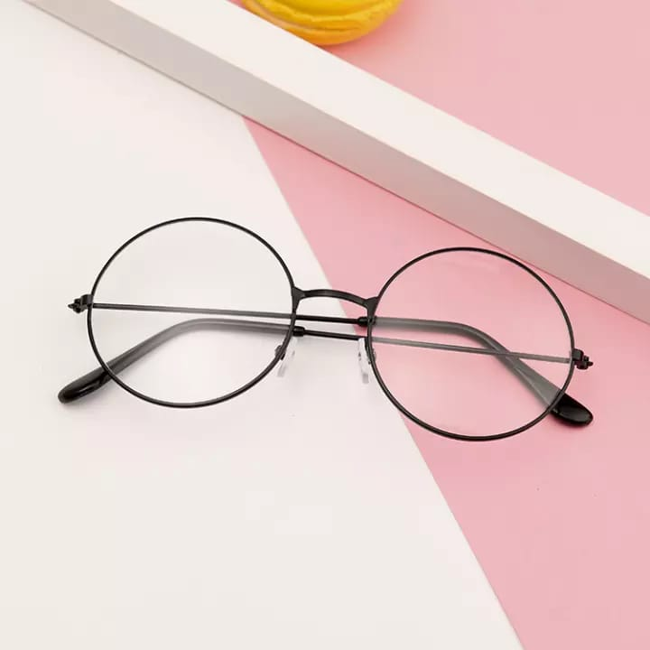 Black Metal Frame Round Harry Potter Glasses for Girls - Classical Retro Style High Quality Glasses