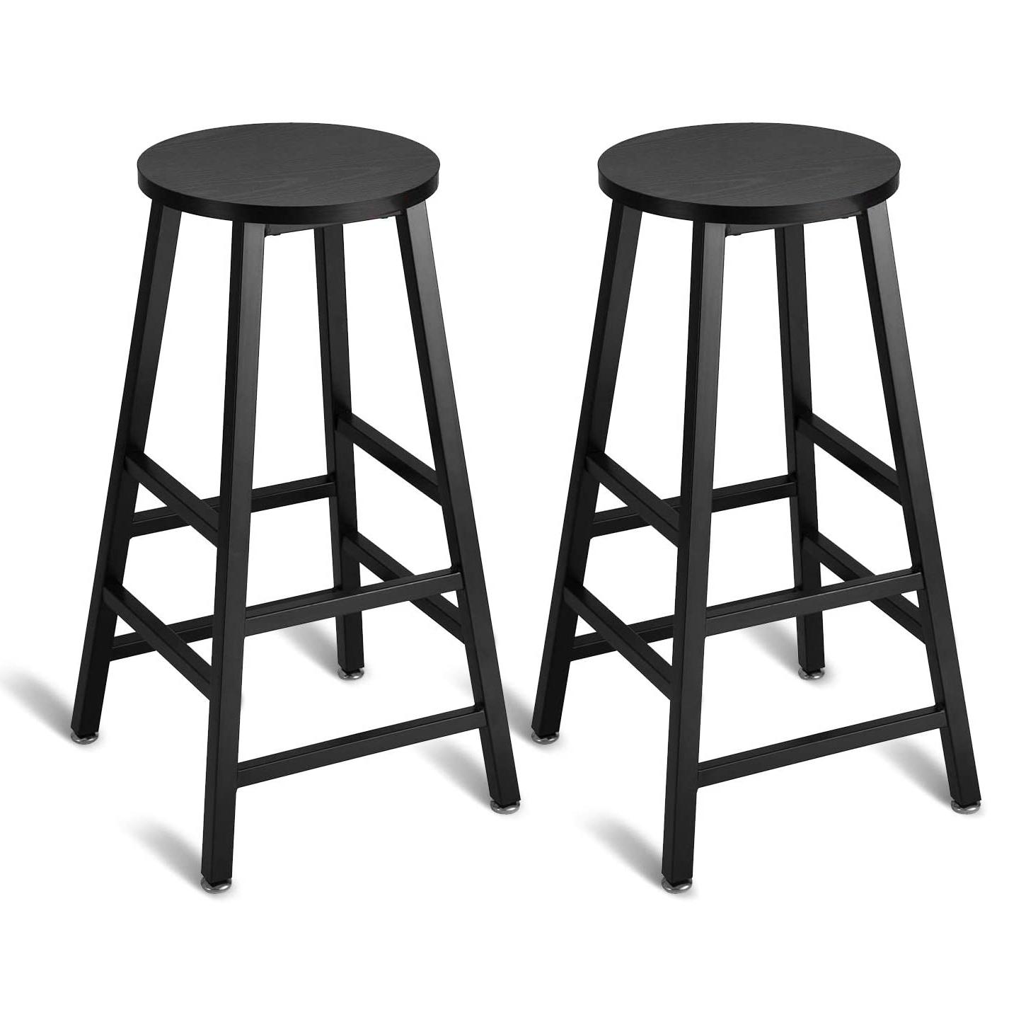 Bar Stools Set of 2 Rustic Bar Stool Dining Height Stools Bistro Vintage Stool
