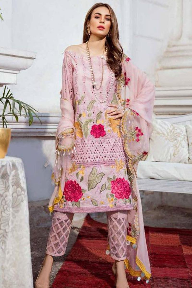 fd2168ca06 Charizma ED-2 PINK Unstitched Lawn Eid Collection 3Pc Embroidered Collection  Unstitched Fabric Pakistani Traditional