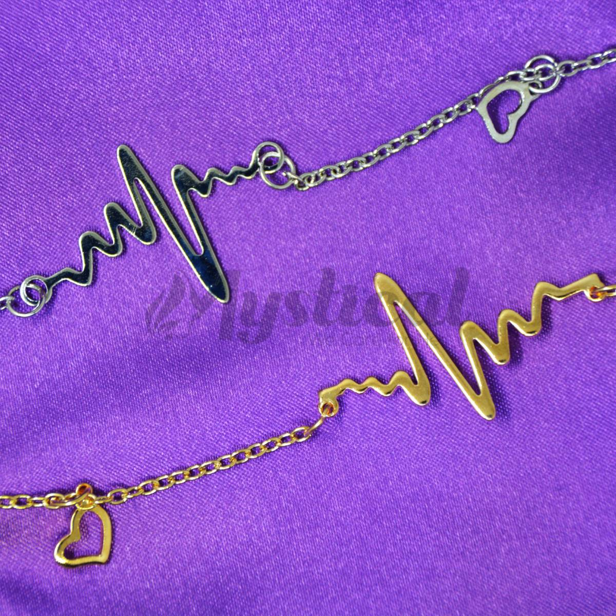ECG Pendant Necklace for Women by Mystical - ECG Pendant Necklace for Girls - Necklace for Women / Girls