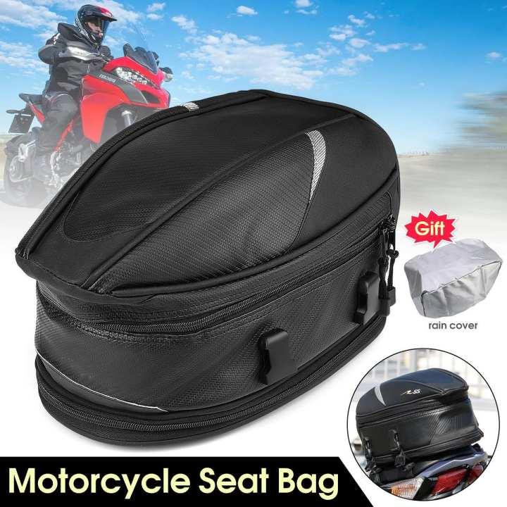 Motorcyle Bike Sports Seat Carry Bag Waterproof Storage Saddlebag Portable Black
