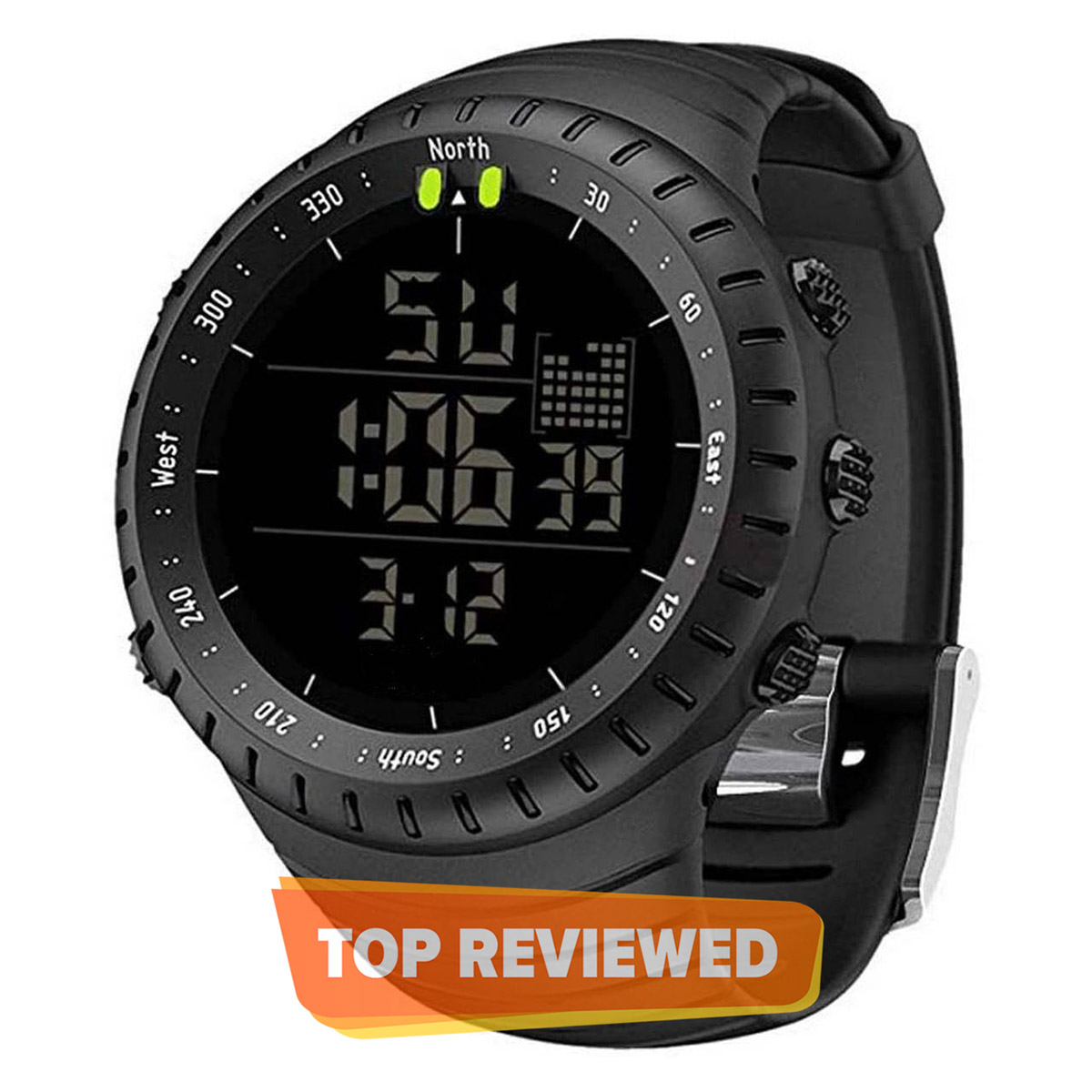 Military Men's Digital Sports Watch Waterproof with LED Back light Watch for Men