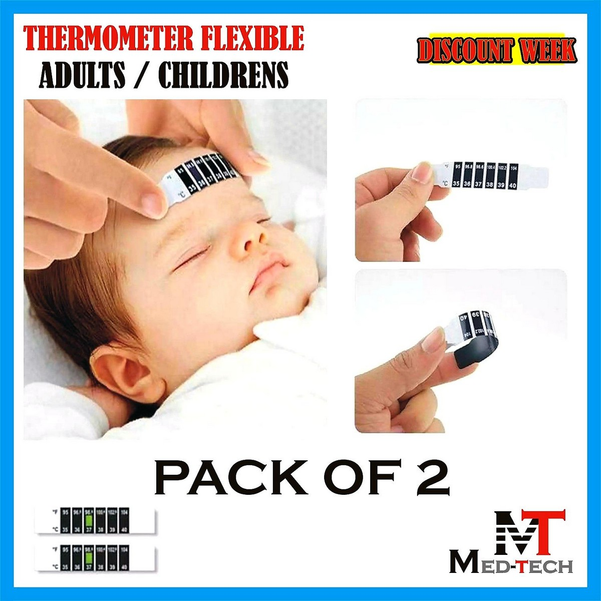 Thermometer flexible for Childrens / Adults (Pack of 2)