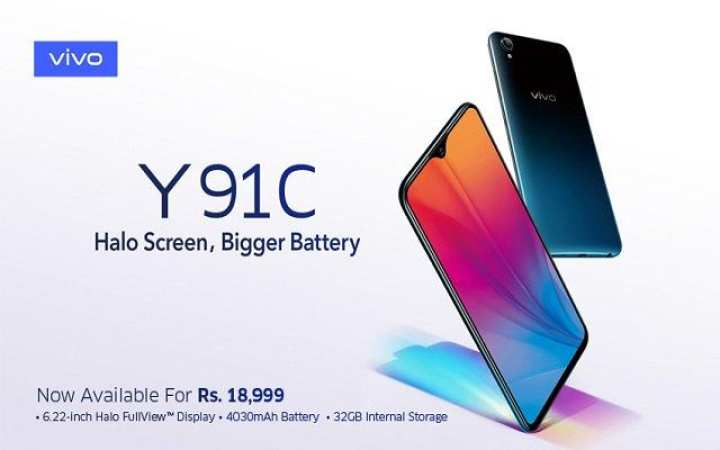 "Vivo Y91C Mobile Phone 6.2"" - 2GB Ram - 32GB Rom - 4030mAh Battery"