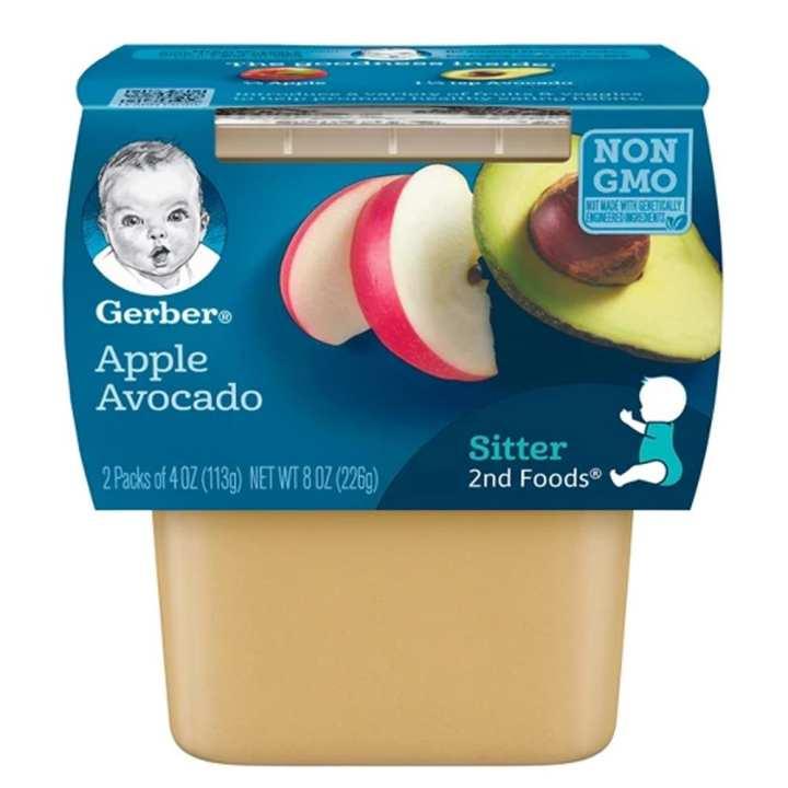 Gerber 2nd Foods Baby Food Apple Avocado 4oz