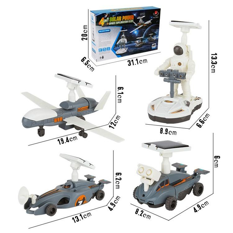 4 in 1 Solar Powered Space Exploration Fleet - Science Set