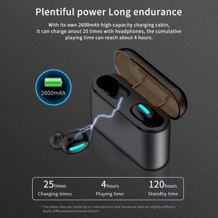 Q32 TWS Wireless Bluetooth Headset 5.0 IPX5 Waterproof Stereo Headphones Sports Mini Dual / Pair Airpods / Earphone With Charging Dock  Microphone For IPhone Samsung and all phones