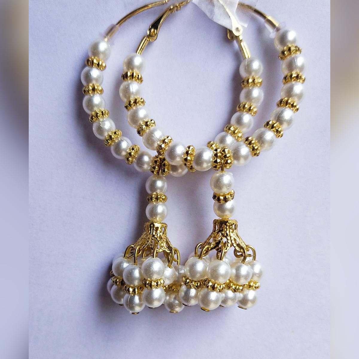 High Quality Delicate long Classy Tassel Pearls Jhumka Trendy Earring