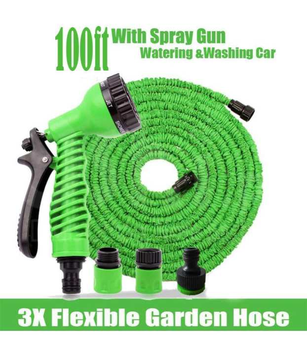 Maham Mart A to Z - Magic Hose (100 Ft.) With 07 Spray Gun Functions. GNC-001