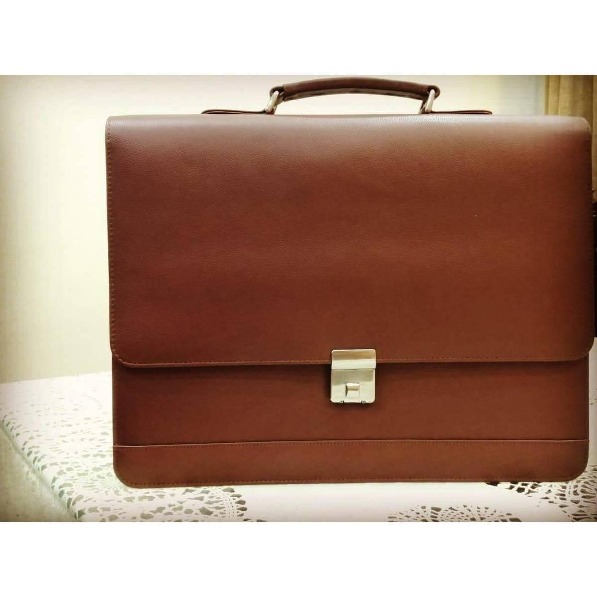 Genuine leather messenger bag laptop bag shoulder bag for women gift for men office bag work briefcase